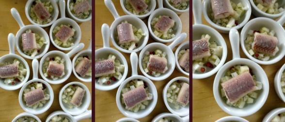 Gerookte paling met tartaar van venkel en groene appel