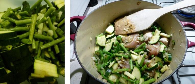 Groene curry klaarmaken