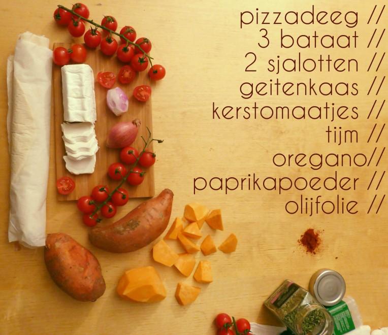 ingredienten ingevuld
