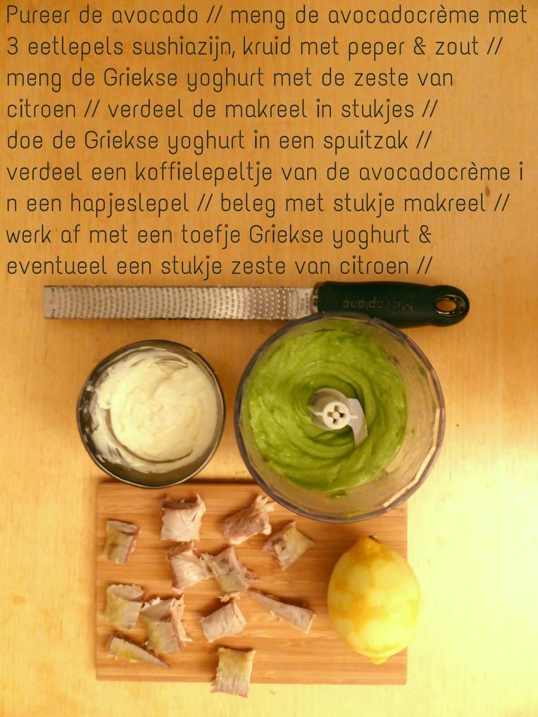 goestjes.be lepelhapje met makreel en avocadocreme