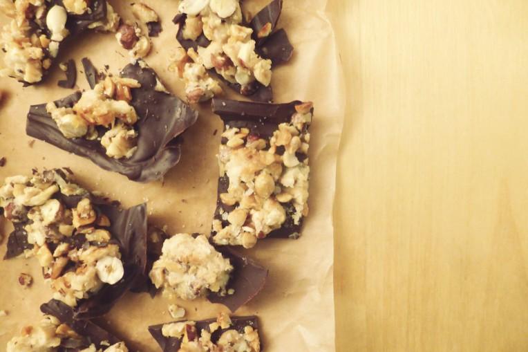goestjes.be recept voor chocolade met gekarameliseerde noten en fleur de sel