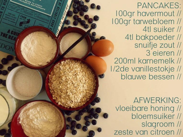 bleuberry pancakes ingrediënten www.goestjes.com