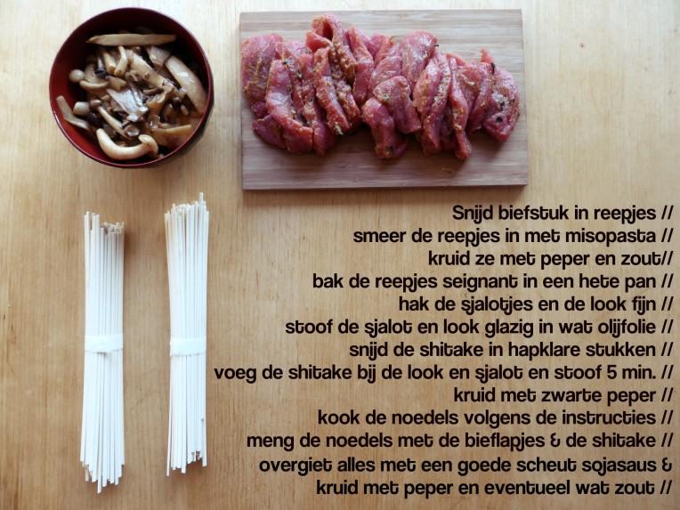 miso bieflapjes shitake soba udon soja recept recipe lunch