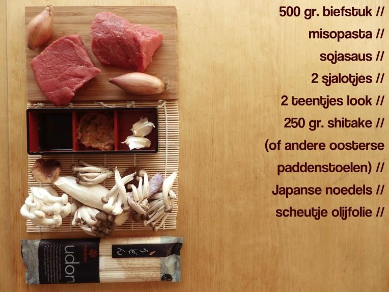 miso bieflapjes sojasaus shitake japans lunch gezonde lunch eenvoudige lunch recept