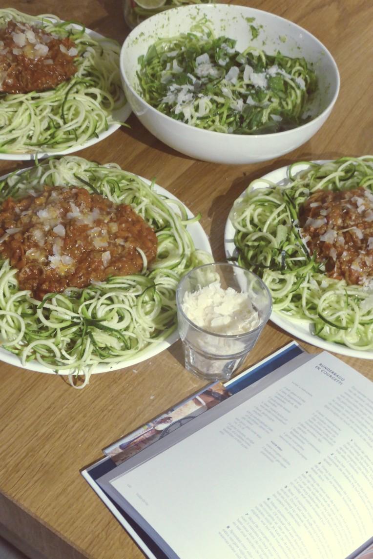 ragu courgetti spaghetti van courgette