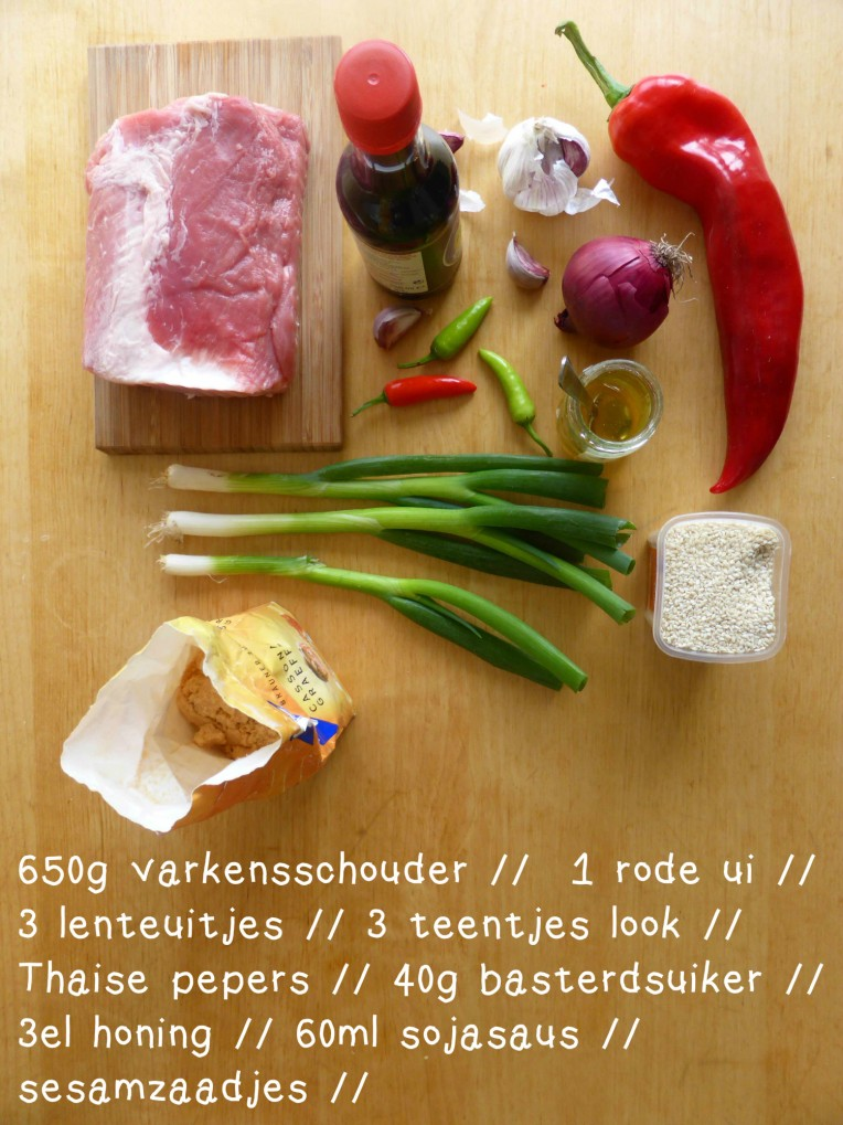 ingredienten pulled pork burritos draadjesvlees foodtruck