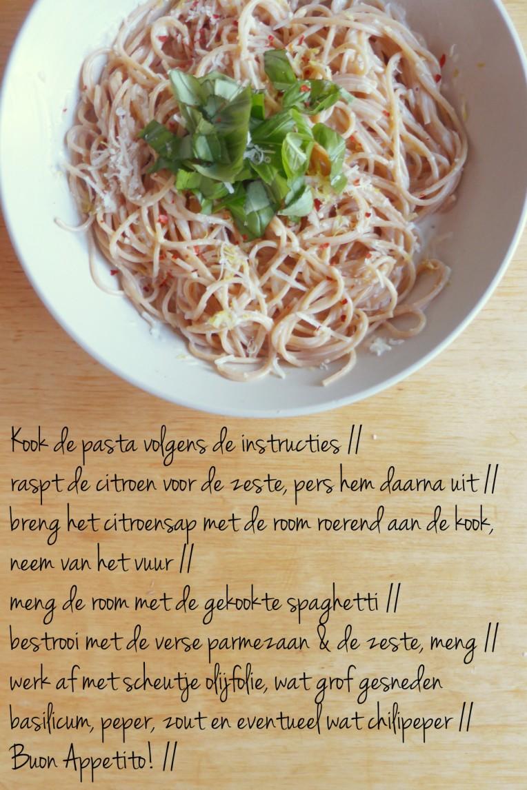 pasta al limone recept pasta spaghettie citroen limoen makkelijk