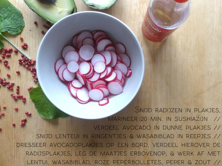 recept maatjesharing met gemarineerde radijsjes